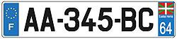 plaque auto pays basque